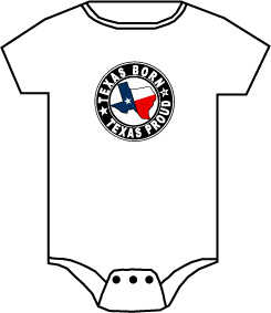 Onesie - Texas Born TG291